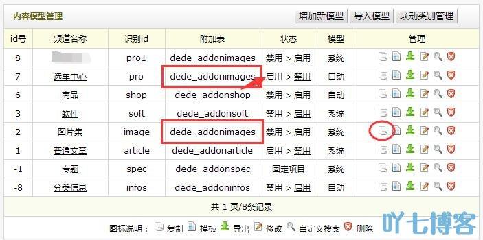 dedecms增加复制内容模型系统模型