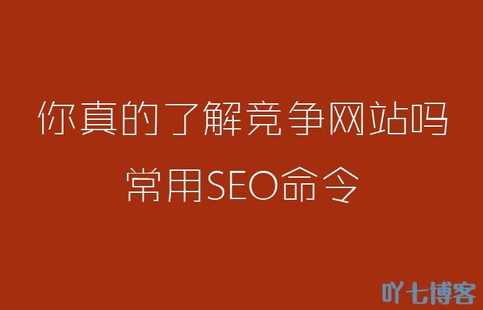 常用seo命令了解自己与竞争对手网站情况分析