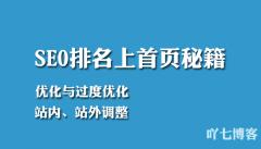 网站关键词SEO排名冲上首页的秘籍